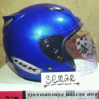 Helm basic INK Centro - Blue - bkn KYT BOGO AGV RETRO CROSS ANAK