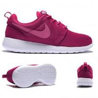 Nike Roshe Run WMNS Dark Fireberry Pink Sepatu Wanita Sneakers PREMIUM