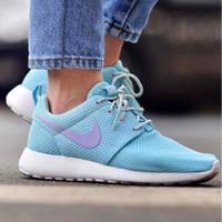Nike Roshe Run WMNS Baby Blue Sepatu Jalan Wanita Sneakers PREMIUM