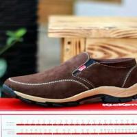sepatu slip on kickers kulit suede asli / sepatu bandung berkwalitas