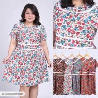 Jual Davalinda Flowery Flare Big Mini Dress Jumbo Murah
