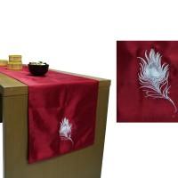 Hermosa Table Runner/Taplak Meja Orchid Merah 150x40cm