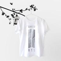 Tumblr Tee / T-Shirt / Kaos Wanita Lengan Pendek BTS ARMY LOGO Putih