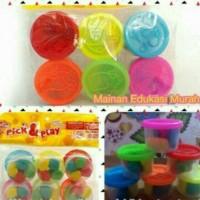 Jual Fun doh pick & play lilin mainan clay Murah