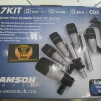 Microphone Drum SAMSON 7KIT 7 KIT 7 Piece Drum Mic Set