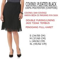 Jual rok branded- Covin pleated black skirt Murah