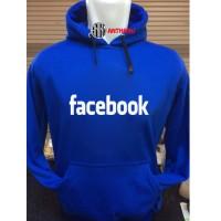 Hoodie Wanita Pria Facebook Biru Atasan Setelan Celana Pendek