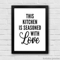Jual Pigura Quote Hiasan Dinding Dapur - This Kitchen Is Seasoned With Love Murah