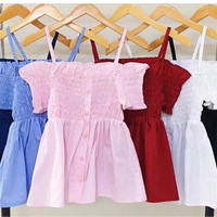 Jual sabrina top sabrina peplum crop top atasan sabrina baju sabrina tali Murah