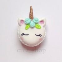 Jual Unicorn Macaron Charm - Handmade Fimo Polymer Clay Murah