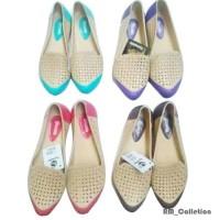 Jual sepatu pantofel karet wanita/ cewek trendy warna anti air& hujan Murah