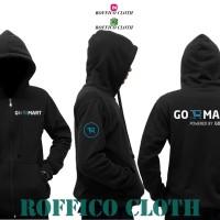 Jaket Hoodie Zipper Go Mart Powered By Gojek - Roffico Cloth