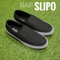 Jual Sepatu Casual Murah RAF Foot SLIPO - Hitam Murah