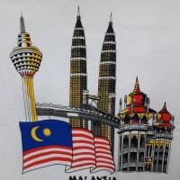 kaos wisata malaysia souvenir malaysia kuala lumpur