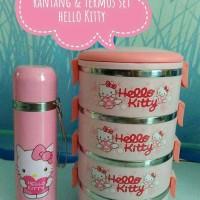 Jual Rantang & Termos set Hello Kitty Murah