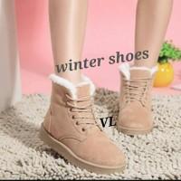Sepatu Boots Vintage Murah - Winter Shoes Woman - Ankle Boot Sneakers