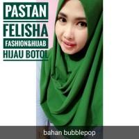 Hijab jilbab kerudung pashmina instant pastan Felisha hijau botol