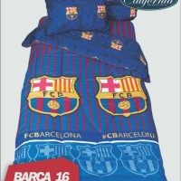 SPREI CALIFORNIA 120 SINGLE SIZE NO.3 MOTIF BARCA BARCELONA /MURAH