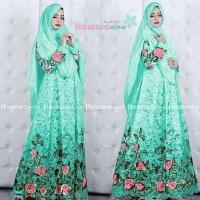 Baju Muslim Gamis Maxi Motif Bunga CKR Hawwa Aiwa Tosca