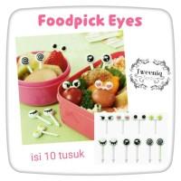 Food pick Eyes tusukan bento hiasan bekal motif ekspresi mata lucu
