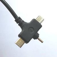 Jual GROSIR Kabel USB 1.5 meter cabang 3 | 3 in 1 | micro USB mini USB N70 Murah