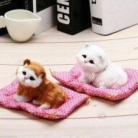 Jual Simulation Cat Toy/Miniatur Kucing Mirip Aslinya Bersuara MEONG Murah