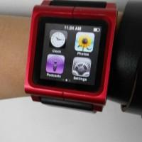 Jual ipod nano 6 gen 8Gb red special edition with lunatik strap watch Murah
