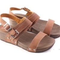 OP2251 Garsel L330 Sepatu Wedges WanitaCoklat KODE Bimb2728