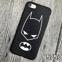 Jual FOR IPHONE 5/5S/SE - HARD CASE MATTE BLACK BATMAN HERO FULL CORNER Murah