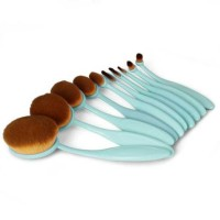 Jual Oval Blending Brush Set / Kuas Oval Bentuk Sikat isi 10 pcs Murah