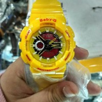 Sale Jam Tangan Wanita Casio G-Shock Baby-G Bga 110 Yellow List Red