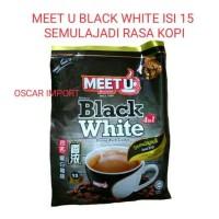 MEET U BLACK WHITE COFFEE 15PCS X 40G