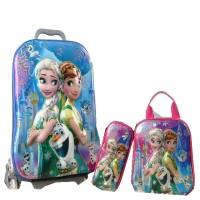 Tas Travel BGC 5 Dimensi Gambar Rubah Rubah Frozen Fever Elsa Anna