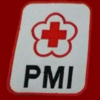 Logo PMI PMR 1 set (bordir komputer), 3 jenis emblem patch badge