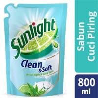harga Sunlight Sabun Cuci Piring Clean & Soft Refill 800ml Tokopedia.com
