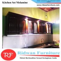 Kitchen Set Minimalis, Finishing Melamin, Free Design, Harga Per Meter