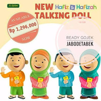 Jual WOW! Hafiz Hafizah Talking Doll | Boneka Ngaji Ongkir 1Kg Murah