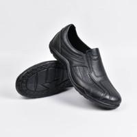 Jual Sepatu Pantofel Karet ATT AB 375 Pria Gagah Hitam Polos Profesional  Murah