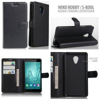 Wiko Robby - Agenda Standing Leather Book Flip Cover Casing Sarung Hp