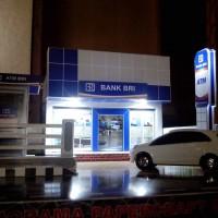 Jual Diorama Papercraft Bank BRI - Miniatur Bank BRI lengkap dengan Lampu Murah