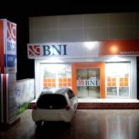 Jual Diorama Papercraft Bank BNI - Miniatur Bank BNI lengkap dengan lampu Murah