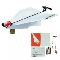 Mesin pesawat terbang kertas/power up electric paper plane/baling2