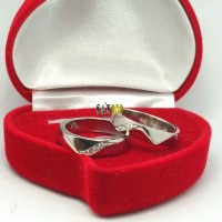 Jual cincin kawin couple palladium request  Murah