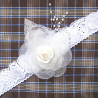 Handmade Headband Anak Bandana Anak Perempuan Wedding Putih