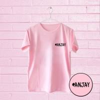 Tumblr Tee / T-Shirt / Kaos Wanita Lengan Pendek Anjay Warna Pink