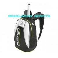 NEW!! Tas Tenis Ransel HEAD DJOKOVIC BACKPACK BLACK WHITE ORIGINAL