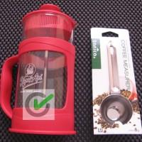 Paket Hemat Coffee Press - Original Kapal Api + sendok kopi Tanica