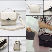 tas satchel messenger bag selempang putih dior charles and keith bonia