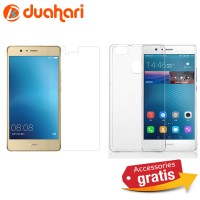 2in1 Tempered Glass Huawei G9 + Soft case Casing Huawei G9 Anti Gores
