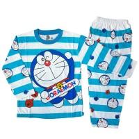 harga Setelan Baju Tidur Piyama Anak Laki-laki Lengan Panjang Doraemon Tokopedia.com